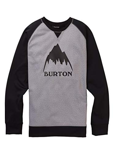 Burton Crown Bonded Sudadera, Hombre, Gray Heather/True Black, S