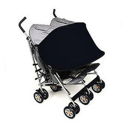 Manito Sun Shade for Twin Stroller (Black)