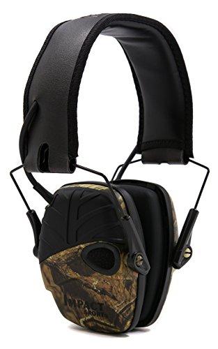 Honeywell 1034400 Howard Leight Impact Sport - Cuffia amplificatore a forma di paraorecchie Camouflage, Mimetico, 1