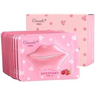 Collagen natural crystal cranberry lips mask beauty moisturizing exfoliating moisturizer for full and beautiful lips:Tourlombok-piranti