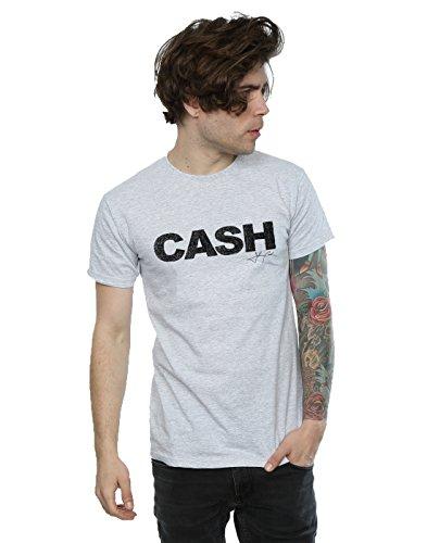Johnny Cash Herren Sketch Block T-Shirt Medium Heather Grey