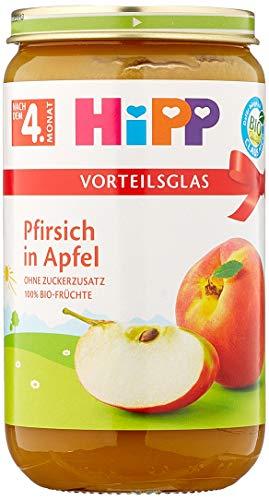Hipp Pfirsich in Apfel, 6er Pack (6 x 250 g)