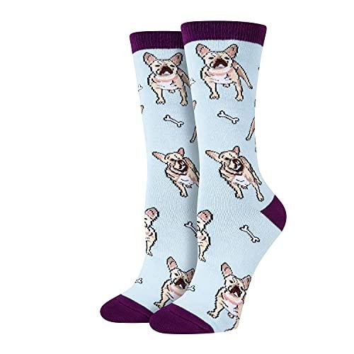 SOCKFUN Funny Gifts for Dog LoversEnglish Bulldog Gifts Bulldog Socks Women, Dog Gifts Dog Mom Gifts Dog Socks