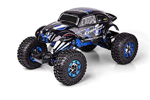 RC Auto kaufen Crawler Bild 2: Carson 500404169 500404169-1:10 X-Crawlee XL Beetle 2.4G 100% RTR, Ferngesteuertes Auto, RC, inkl. Batterien und Fernsteuerung, Crawler, Offroad, Robustes Fahrzeug, schwarz*