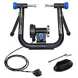 Unisky Soporte magnético para entrenador de bicicleta Soporte de entrenamiento para bicicleta de ejercicio interior Soporte para volante de bicicleta de montaña y carretera