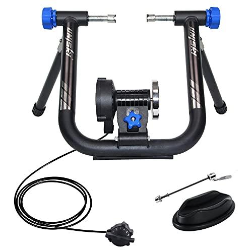 UNISKY Home Trainer Vélo Support Entraînement à l'intérieur avec 6 Niveaux de Résistance Magnétique pour VTT et Vélo de Route