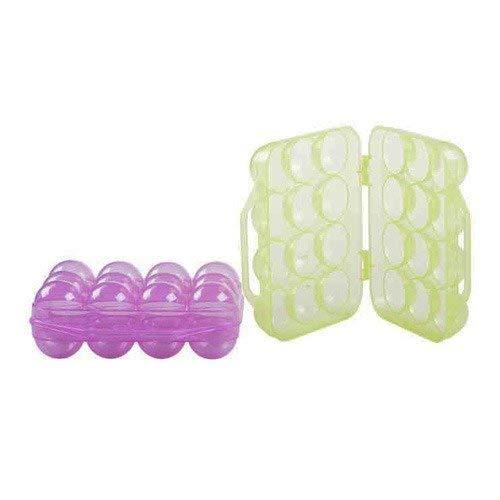 Boite à Œufs 1 Douzaine - Pliable Boîte de Transport en Plastique à 12 Oeufs pour Pique-nique ou Voyage OCP-EGG12-D 19x19x7cm - Boîte spécifique à oeufs Protège des chocs - œufrier