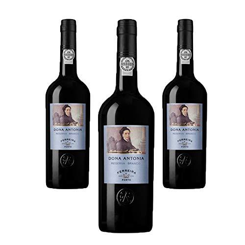 Vino de Oporto Ferreira Dona Antonia Reserve White - Vino Fortificado- 3 Botellas