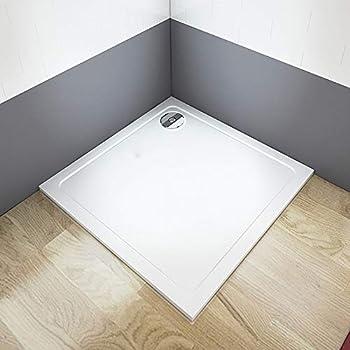 Plato de Ducha 30mm Cuadrado Rectangular para Mamparas de Baño 90x90x3cm: Amazon.es: Bricolaje y herramientas