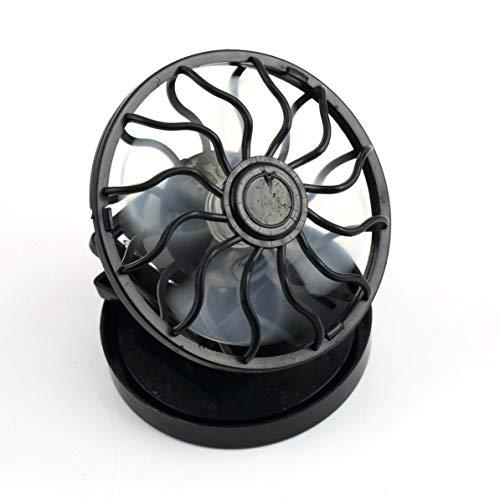 Ventilador de energía solar con clip para ahorrar energía, color negro, portátil para verano, viajes, pesca, escalada
