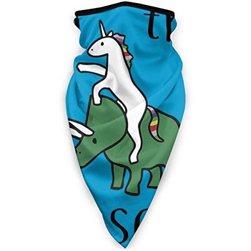 vjgdlz Neck Warmer Unicorns Ride Dinosaurs to The Disco Personnalisé Outdoor Headwear Durable Cosy Party Windproof Respirant Neck Warmer Bandanas Outdoors Bouche Neck Guêtre Coloré Anime