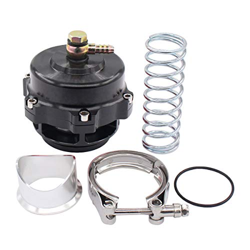 NewYall Universal Black 50mm Aluminum Turbo Turbocharge Blow Off Valve BOV