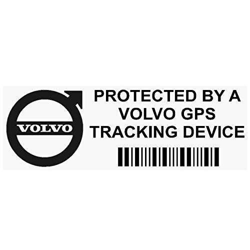 5x ppvolvogpsblk GPS Schwarz Tracking Gerät Sicherheit Fenster Aufkleber 87x 30mm-car, Van Alarm Tracker