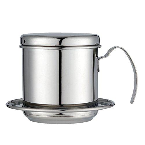 Vietnamesisch Kaffee Drip Filter Maker, Edelstahl Vietnamesisch Kaffee Filter Drücken Schraube Down Einsatz Tropfer Mechanismus tragbar für Zuhause/Küche/Büro/Outdoor Stainless Steel Original Color
