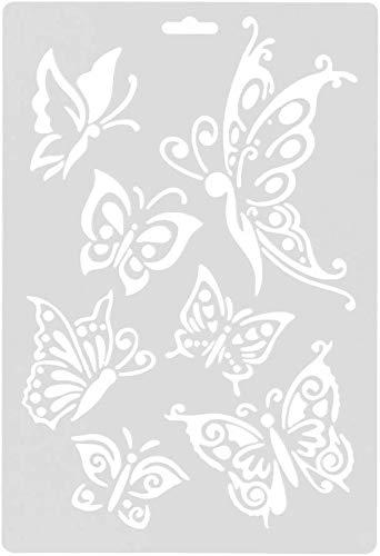 WUKONG99 2 Stück Schmetterling Sammlungen Kaffee Kunst Schablonen Formen Malvorlagen Zeichnen Schablonen für DIY Basteln Scrapbooking Album Papier Kartenherstellung