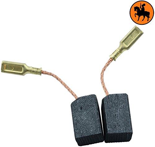 Buildalot Specialty koolborstels ca. 15-12480 voor Black & Decker haakse slijper KG75-6,3x8x13,5mm - vervanging voor originele onderdelen 1003868-00, 930151-00, 930897-00 & 939539-01