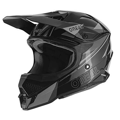 O'NEAL | Motocross-Helm | MX Enduro Motorrad | ABS-Schale, Sicherheitsnorm ECE 22.05, Lüftungsöffnungen für optimale Belüftung & Kühlung | 3SRS Helmet TRIZ | Erwachsene | Schwarz Grau | Größe S