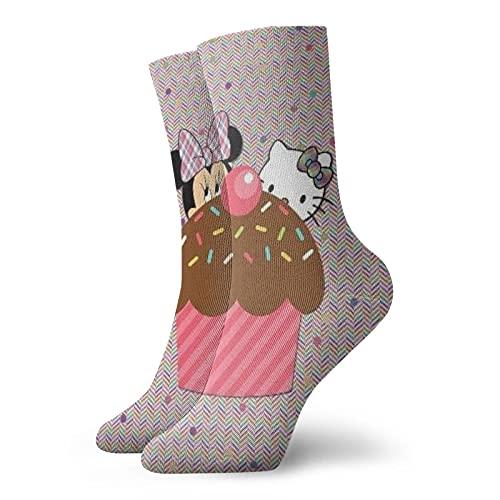 Calcetines de Hello Kitty para hombres y mujeres cuatro estaciones, cómodos, transpirables, resistentes al desgaste, deportes, ocio y fitness