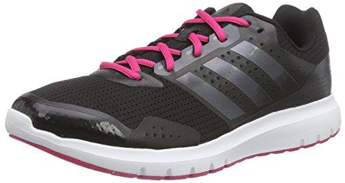adidas Duramo 7 Damen Laufschuhe, Schwarz (Core Black/Night Met/Bold Pink), 36 2/3 EU