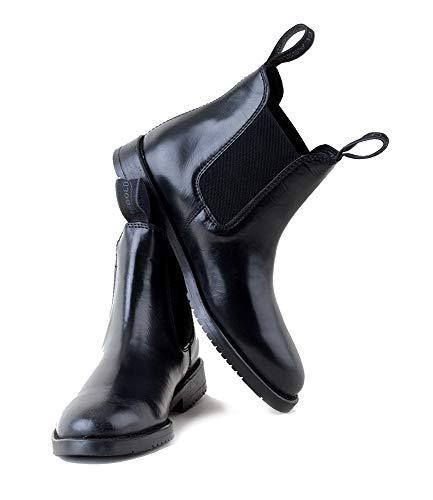 Rhinegold Comfey Classic Leder Jodhpur-Stiefel, 0, Reitstiefel aus Leder, Schwarz, 43
