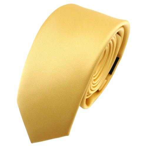 TigerTie - corbata estrecha - amarillo dorado monocromo