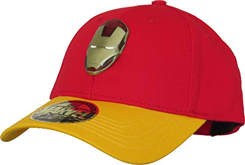 Cotton Division Iron Man Metal Logo Baseball Cap Red