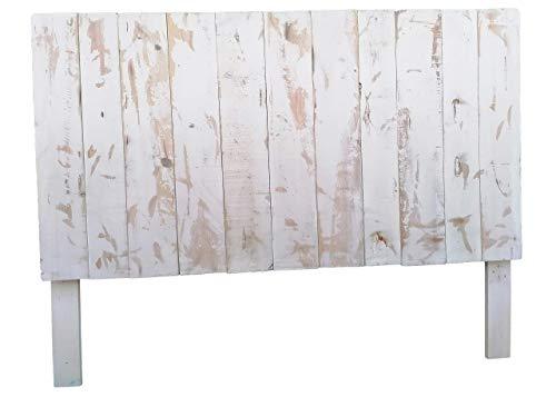 Cabecero Artesanal con patas echo con madera de palet & pallet & Respaldo & Cabezal de pallets con letras para cama somier de palets