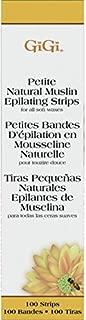 Gigi Natural Muslin Epilating Strips, Petite, 100 Count