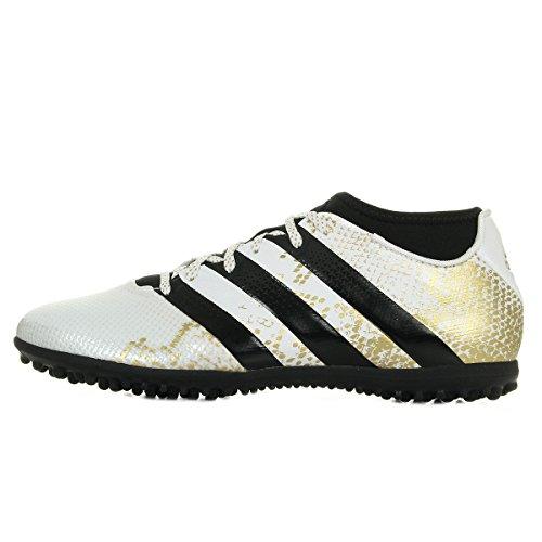 Adidas Ace 16.3 Primemesh Tf, Scarpe da calcetto Uomo, Bianco/Nero (Ftwr White/Gold Met./Core Black), 42 2/3 EU