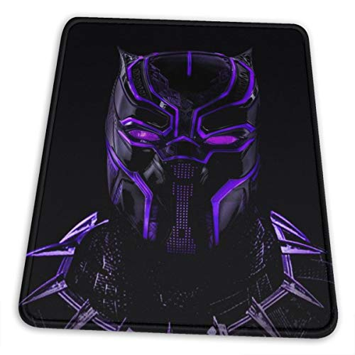 Black Panther Mouse Pad with Stitched Edge Premium-Textured Mouse Mat Rectangle Non-Slip Rubber Base Oversized Gaming Mousepad,for Laptop Computer & PC 7 X 8.6 in