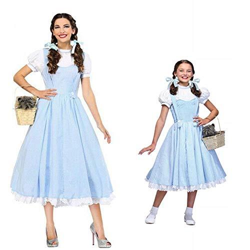 Película El mago de OZ Dorothy Disfraz para niña y mujer Dorothy Cosplay Disfraces Disfraces de princesa de Halloween Vestidos de fiesta