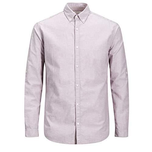 JACK & JONES PREMIUM JACK & JONES Herren JPRSUMMER Shirt L/S Button DOWN STS Businesshemd, Rosa (Toadstool Fit:Slim Fit), Small