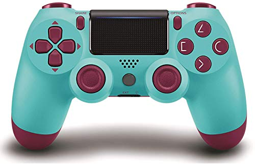 Game Controller for PS4 Wireless Gamepad for PS4/PS4 Pro/PC and Laptop with Vibration and Audio Function, Mini LED Indicator, High-Sensitive Controller with Anti-Slip(Berry Blue)