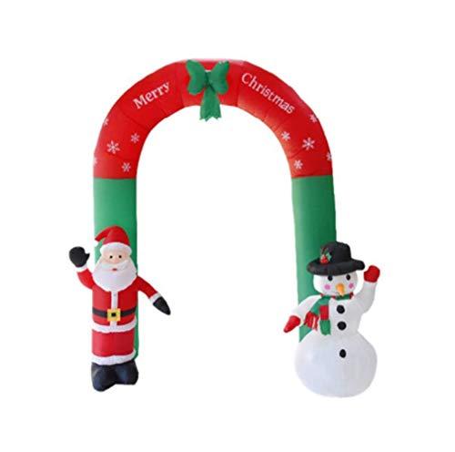 Kolylong® Weihnachten Deko Aufblasbarer Bogen Weihnachtsmann Schneemann Weihnachten Draußen Verziert DekorRiesiger Aufblasbarer Regenbogen-Bogen Outdoors Verzierungen Zwei Spezifikationen EU/US