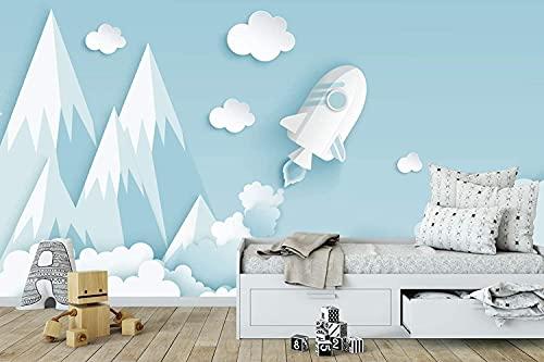 Papel Pintado Infantil Nubes Marca Oedim