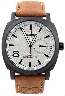 ساعة رجالية من كورين [جلد,كوارتز]-8139BW