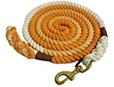 Ribbons and Rhinestones Cotton Ombre Lead Rope - 10 ft (Orange)