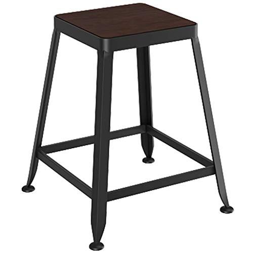 PLLP Sillas de escritorio, taburetes de bar Taburete de bar Silla con reposapiés para cocina Pub Café Rústico Estilo industrial Asiento Altura 45 cm Carga máxima 200 kg,Taburete de bar