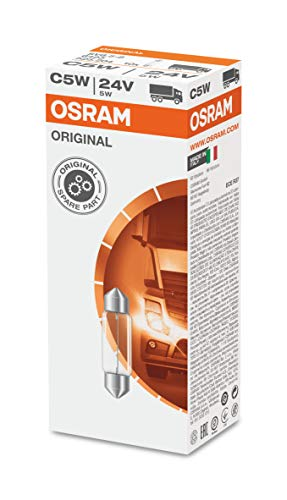 Osram 6423 ORIGINAL Sofittenlampe  Innenbeleuchtung C5W, 24V, 1 Lampe, Anzahl 10
