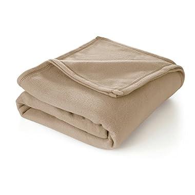 Martex Super Soft Fleece Blanket - Twin, Warm, Lightweight, Pet-Friendly, Throw for Home Bed, Sofa & Dorm - Linen