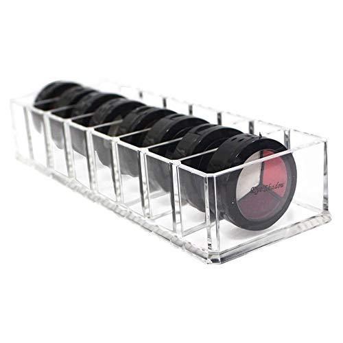 Make Up Organizer Acryl Schubladen Kosmetik Aufbewahrung Organizer Große Halter Cosmetic Make-Up Schmuck-Box Klar für Lidschatten Gesichtspuder Nagellack Lippenstift Transparente 10x3,5x2 Zoll 8 Zelle