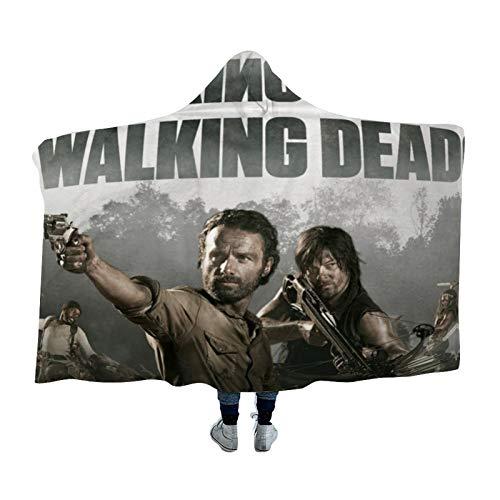 DONL9BAUER Manta portátil The Walking The Dead Manta The Walking The Dead para ropa de cama, sudadera con capucha para adultos, niños y adolescentes
