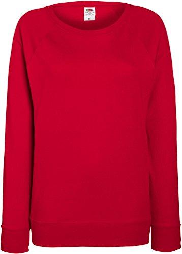 Damen Lightweight Raglan Sweat - In vielen tollen Farben Farbe Rot Größe M
