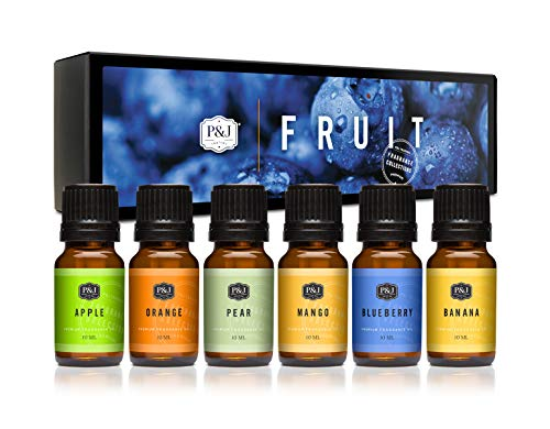 P&J Fragrance Oil | Fruit Set- Scented Oil for Soap Making, Diffusers, Candle Making, Lotions, Haircare, Slime, and Home Fragrance
