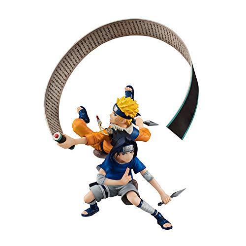 Yzoncd Naruto Remix Uzumaki Naruto Vs Uchiha Sasuke Figura De Acción Figuritas Estatua Modelo De Juguete 15Cm