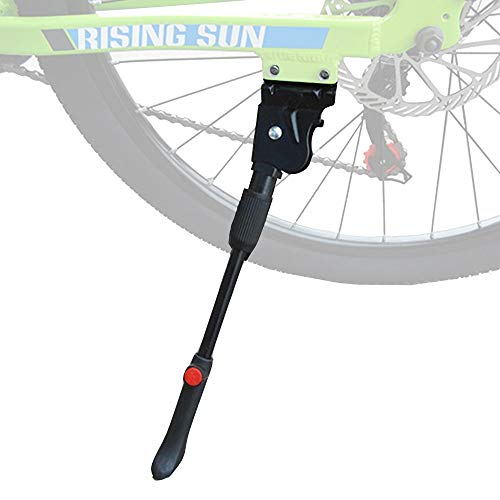 Shoze Bike Stand Bike Kickstand Height Adjustable Heavy Duty Prop Side Rear For Bicycle Mountain Bike Road Bike of 24-27 Inches