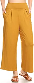ShoSho Womens Paper Bag Waist Cropped Pants Casual Wide...