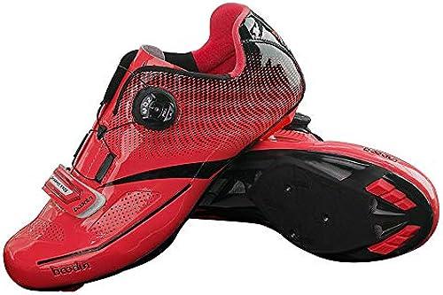 Walmeck- Rennradschuh Ultraleichtflugzeug Nylon rennradschuhe TPU Rennrad Sportlich Reitschuhe Atmungsaktiv Auto-Lock Fahrrad Fahrradschuhe