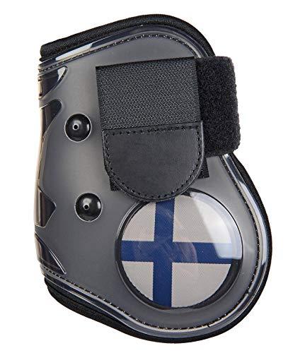 HKM flapdoppen vlag voor het achterbeen, Vollblut/Warmblut, Vlag Finland