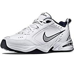 Amazon.com | Nike Men's Air Monarch IV Cross Trainer, Black/Black ...